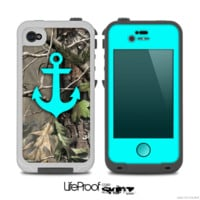 The Real Camouflage and Blue Anchor V2 Skin for the iPhone 4-4s or 5 LifeProof Case - iPhone