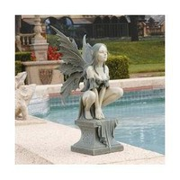 Design Toscano CL5047 Celtic Fairy's Perilous Perch Garden Statue