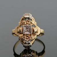 1910-1920's Antique Gold and Diamond Ring