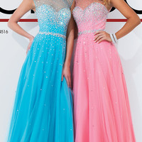 Tony Bowls Floor Length Prom Dress