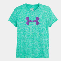 Girls' UA Big Logo Twist Tech T-Shirt
