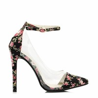 Clearly Prize Winning Roses Heels