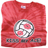 Kiss My Ace Tie Dye Volleyball T-Shirt