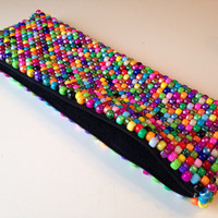 Multicolor Clutch Bag, Rainbow Purse, Colorful Bag, Kandi Purse