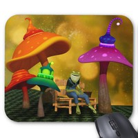 Whimsical Frog and Mushrooms Mousepad