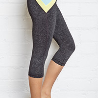 Heathered Colorblocked Yoga Capris