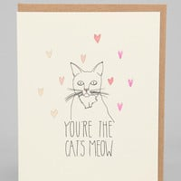 Hartland Brooklyn Cat's Meow Card - Urban Outfitters