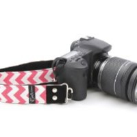 "Camera Strap; Chevron Pink 1.5"" DSLR"