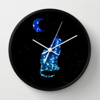 STAR CAT Wall Clock by catspaws