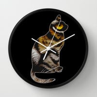 THE TIGER WITHIN 2 Wall Clock by catspaws