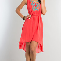 High Low Sleeveless Casual Dress