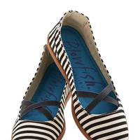 Skyline Lights Stroll Flat in Stripe | Mod Retro Vintage Flats | ModCloth.com