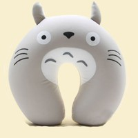 Comfort Foam Particles U Neck Travel Pillow Cute Cartoon Pattern - Totoro