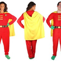 DC Comics Robin One-Piece Red Union Suit Footed Pajama