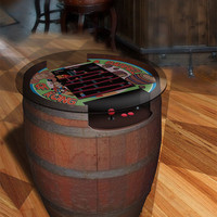 "A Custom ""Donkey Kong"" Arcade Table Made From a Wine Barrel"