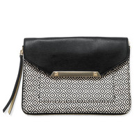 Black & Neutral Mosaic Tile Cross Body Bag | Tia Cross Body Bag | Stella & Dot