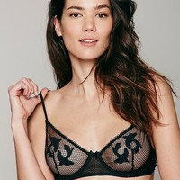 Intimately Womens Nothin But Net Bra - Black,