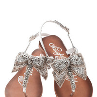 Twinkling Trimmings Sandal in Silver | Mod Retro Vintage Sandals | ModCloth.com