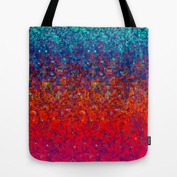 Glitter Dust Background G172 Tote Bag by MedusArt