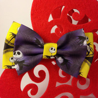 Nightmare Before Christmas Handmade Double Bow Hair Clip