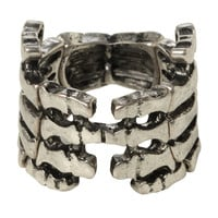 LOVEsick Skeleton Hands Stretch Ring