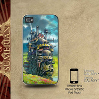 Howls Moving Castle - iPhone cases 4/4S Case iPhone 5/5S/5C Case Samsung Galaxy S3/S4 Case
