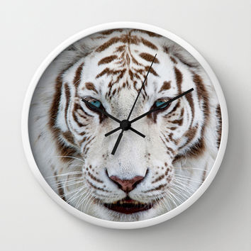 Tiger Tiger Wall Clock by catspaws