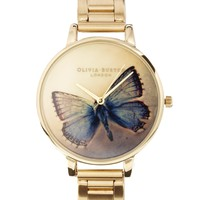 Olivia Burton Gold Butterfly Bracelet Watch