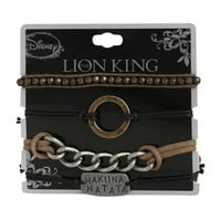 Disney The Lion King Hakuna Matata Cord Bracelet 4 Pack
