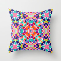 Boho 1 Throw Pillow by Jacqueline Maldonado