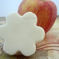 Lotion bar, organic all natural apple scented | FadedLeaves - Bath & Beauty on ArtFire