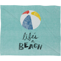 Nick Nelson Lifes A Beach Fleece Throw Blanket