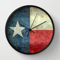 "The State flag of Texas - The ""Lone Star Flag"" of the ""Lone Star State"" Wall Clock by LonestarDesigns2020 - Flags Designs +"
