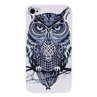 Pinlong Black Owl Mighty Hard Back Shield Case Cover for Apple iPhone 4 4S