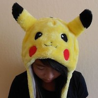 USA Seller - Pokemon Pikachu Cosplay Aviator Hat