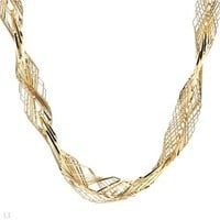 14K Yellow Gold Twisted Torsade Necklace - 			        	For Your Little One: Designer Pieces Shop