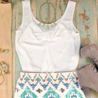 Bayview White Bow Back Tank