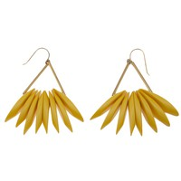 MARNI layered triangle earring