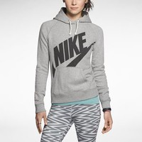 Nike Rally Futura Pullover Women's Hoodie - Dark Grey Heather