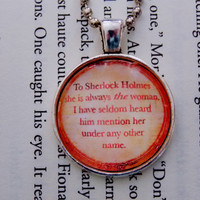 Sherlock Holmes Necklace. Irene Adler Necklace. 18 Inch Ball Chain.