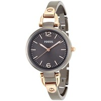 Fossil Georgia Smoke & Rose Gold Stainless Steel Women's Watch ES3111