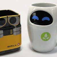 Disney Pixar WALL-E & EVE Mug Gift Set
