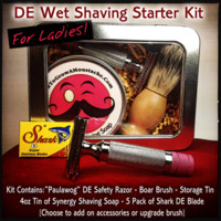 HowToGrowAMoustacheStore — DE Wet Shaving Starter Kit For Woman