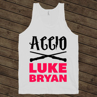 Accio Luke Bryan - Country, Harry Potter, Magic, Music, Tank Tops, Shirts, American Apparel.