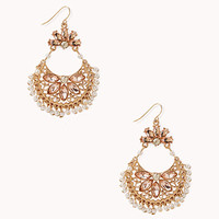 Opulent Faux Pearl & Rhinestone Earrings