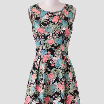 Botanic Garden Printed Dress