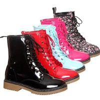 New!! Lace up Ankle Rain Boots