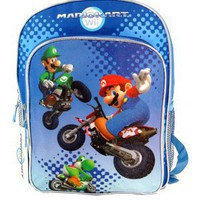 Super Mario Large Backpack and Mario Lunch Bag Set