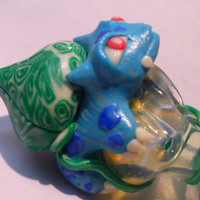 Deluxe Custom Glow in the Dark Bulbasaur Pokemon Pipe - Jimwillie Miniatures