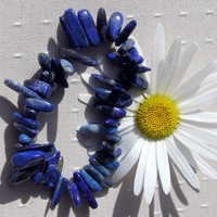Lapis Lazuli Gemstone Elasticated Bracelet - SPECIAL OFFER PRICE